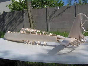 Coffrage du fuselage en cours :