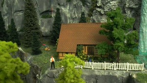 Petite maison au pied des falaises