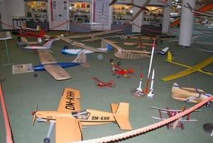 Musée de la Wasserkuppe. Une des salles dédiées aux modèles réduits